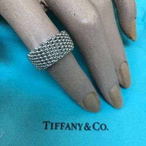 🔴Authentic TIFFANY & CO Mesh Ring 🔴